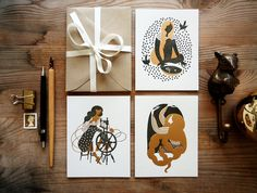 Rumpelstilskin and other beautiful fairy tale cards by Karolin Schnoor. $6.00.