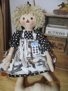 Large Sewing Raggedy Ann by craftystitchers on Etsy