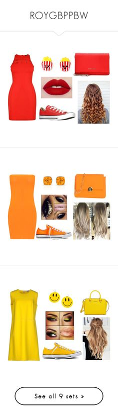 """""""ROYGBPPBW"""" by aaliyahlovestori ❤ liked on Polyvore featuring Versus, Givenchy, Converse, WearAll, Camomilla, Blumarine, MICHAEL Michael Kors, Trina Turk, Bling Jewelry and Dolce&Gabbana"""