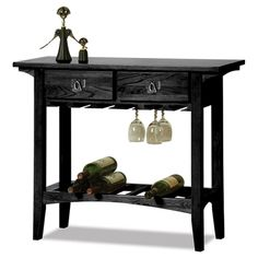 Favorite Finds Mission Wine Table Wood/Slate Finish - Leick Furniture, Gray