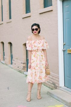What Fashion Blogging Has Done For Me, Floral Off the Shoulder Dress, What to Wear to a Wedding, cult gaia ark bag, summer florals, summer dress