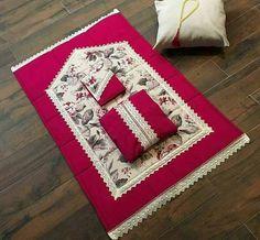 طقم الصلاة Prayer Rug, Bargello, Ramadan, Decoration, Diy And Crafts, Prayers, Projects To Try, Cross Stitch, Homemade