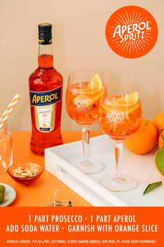 Looking to craft a classic cocktail? Try this simple Aperol Spritz recipe! Garfield Birthday, Aperol Spritz Recipe, Bubble Drink, Alcohol Drink Recipes, Christmas Brunch, Orange Slices, Classic Cocktails, Craft Cocktails, Prosecco