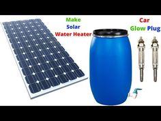 Make Solar Water Heater From Car Glow Plug Homemade Water Heater Diy Solar Water Heater - YouTube Solar Energy Panels, Best Solar Panels, Solar Powered Water Heater, Diy Heater, Solar Solutions, Solar Installation, Solar Energy System, Diy Solar, Glow
