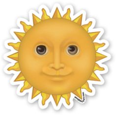Sun with Face | Emoji Stickers