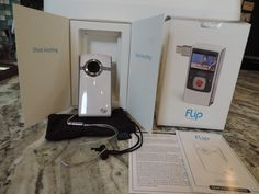 Flip UltraHD Video Camera  White &chrome 8 GB records 2 hours 3rd Generation