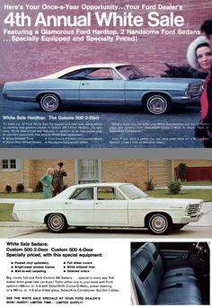 1967 Ford Galaxie 500 - we had a white 4 door with blue interior - might be my favorite childhood car