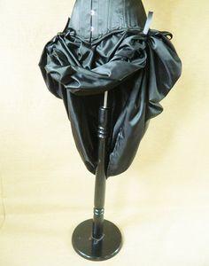 Plain Black Bustle Skirt-One Size Fits All