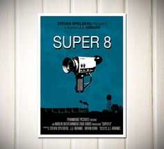 Super 8 Movie Poster A3 size by superclean on Etsy, $16.90