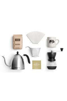 """30 Awesome Gifts For The Impossible-To-Shop-For #refinery29  http://www.refinery29.com/cool-gifts-for-difficult-people#slide-7  The Gift: An at-home pour-over coffee set.The Giftee: The dependable coffee date: You can always count on her to grab a latte to catch up, but that's the extent of your relationship...until now. Invite her over and take the friendship to the next level.Stumptown Journeyman, $120, available at <a href=""""https://www.stumptowncoffee.com/pr..."""