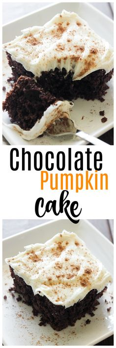Pumpkin recipes are everywhere. But chocolate pumpkin? Not so much. Give this Chocolate Pumpkin Cake a try for a change from the usual pumpkin recipes.