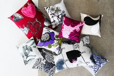 Pillow collection, Vallila. http://www.kenisahome.com/blog