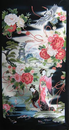 Keepsake Quilting features a rich collection of high-quality cotton quilting fabrics, quilt kits, quilting patterns, and more at the best prices! Japanese Quilts, Japanese Art, Japanese Geisha, Japanese Patterns, Embroidery Patterns, Quilt Patterns, Sashiko Embroidery, Fabric Websites, Asian Wallpaper