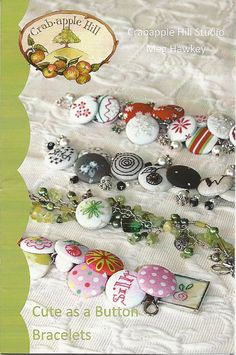 fabric covered buttons on this bracelet!