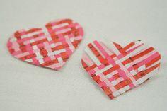weave paper heart