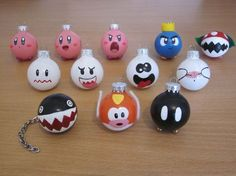 Items similar to Inch Ornaments Small (Choose any on Etsy – Christmas Ideas Painted Ornaments, Diy Christmas Ornaments, Holiday Crafts, Christmas Decorations, Mario Crafts, Geek Crafts, Noel Christmas, Christmas Balls, Super Mario