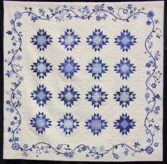 """""""Scraps Gone Blue"""", 2016 opportunity quilt, Quilters Anonymous (Washington)"""