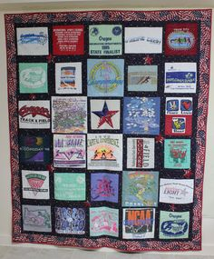 T-shirt Quilt With 30 blocks by CannStitch on Etsy