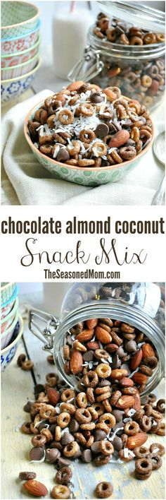 Chocolate Almond Coconut Snack Mix – An easy, make-ahead snack option that's ready in just minutes, full of delicious ingredients, and 100% kid-approved! With loads of chocolate, almonds, and coconut, this Chocolate Almond Coconut Snack Mix is a sweet-and-salty treat to satisfy any craving and power you through all of your adventures!