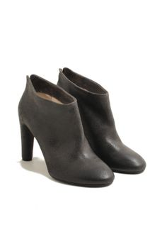 roberto del carlo grey leather booties made in italy shoes