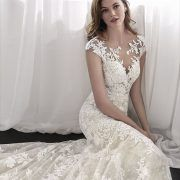 San Patrick 2018 exquisite mermaid wedding dress in embroidered tulle