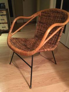 Vintage Mid Century Arthur Umanoff Wicker Rattan Basket Accent Chair by WoodBrassClass on Etsy https://www.etsy.com/listing/400308805/vintage-mid-century-arthur-umanoff