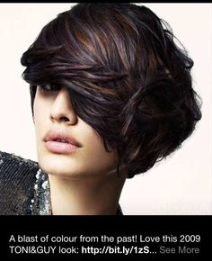 Amazing brunette with subtle Violet and copper highlights.