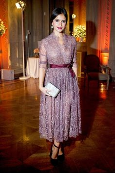 Miroslava Duma #wrapdress #lace