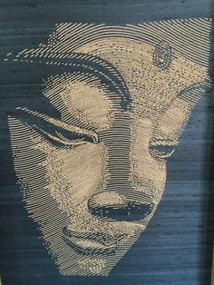 Large Unique Handembroidered Buddha in Wooden Beads  by LaveroArt