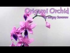 Origami Orchid by Suvorov Sergey- Yakomoga Origami - YouTube