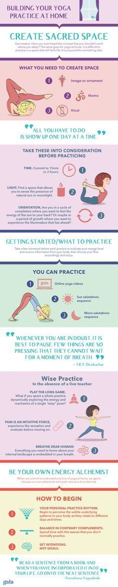 How to get started with a yoga practice at home. #yoga #zen
