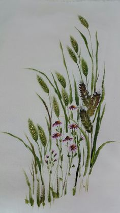 Watercolor Beginner, Watercolor Paintings For Beginners, Fabric Painting, Fabric Art, Painting & Drawing, Botanical Illustration, Botanical Prints, Watercolor Flowers, Watercolor Art
