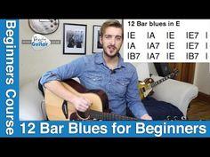 Beginner Blues Guitar Tutorial - 12 Bar blues in E (Level 7 #6) - YouTube