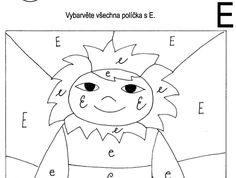 Tiskací a psací: E – Dětské stránky Hedgehog, Elsa, Snowman, Fictional Characters, Preschool Learning, Greek Chorus, Hedgehogs, Snowmen, Fantasy Characters