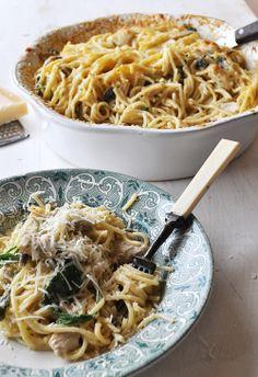Tetrazzini Acho que era capaz de comer todos os dias esparguete :) e este é um dos meus preferidos (não consigo dizer o mais preferido de to...