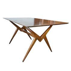"Mid Century Modern Lorenzo ""Renzo"" Rutili Table by Johnson Furniture"