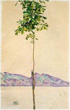 Egon Schiele - Chestnut Tree at Lake Constance, 1912