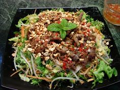 Sunflower Food Galore: Bun Bo Xao (Vietnamese beef and glass noodle salad)