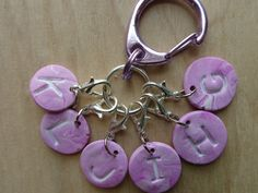 Gift for Crocheter Knitter Her Women Removable Stitch Markers Knitting Crochet Accessories Notions Zipper Pull Letter Tag Hook Charm Label - pinned by pin4etsy.com