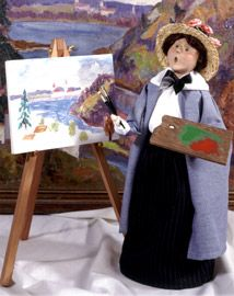 Byers Choice: Artist with easel (1999)