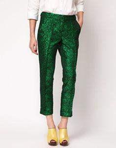 Enlarge ASOS Premium Cropped Pants in Spot Print