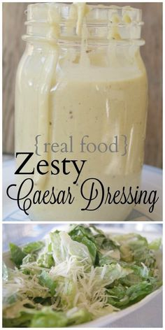 Real Food Zesty Caesar Salad Dressing - geen rommel meer in uw salade. Sauce Recipes, Real Food Recipes, Cooking Recipes, Healthy Recipes, Cooking Bacon, Easy Recipes, Cooking Turkey, Avocado Recipes, Cooking Oil