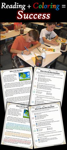 Close Reading Comprehension Color-Coding Grade - Print and Digital Versions Reading Resources, Reading Strategies, Reading Activities, Reading Skills, Teaching Reading, Guided Reading, Reading Comprehension, Free Reading, Learning
