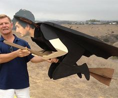 Send chills down impressionable children's spines by making flying witches a reality during Halloween. These witches are made from 3D cardboard cutouts that...