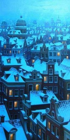 Amsterdam in the winter #travel #amsterdam #netherlands