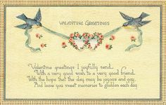 Royalty Free - Printable 1800's Valentine Postcards