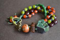 Halloween Multistrand Knotted Bracelet by LoreleiEurtoJewelry