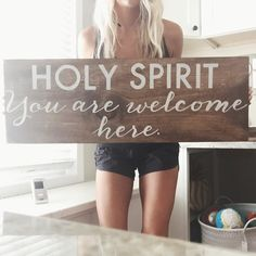 Holy Spirit You are welcome here. by GracedandCo on Etsy