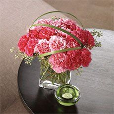 Funky Pink Carnation Bouquet