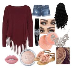 """""""at home party"""" by themeltonkids on Polyvore featuring Boris, AG Adriano Goldschmied and Lime Crime"""